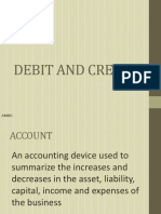 1. Debit and Credit