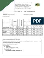Informe Final de Asignatura 3ro A