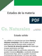 Clase N2 Estados de La Materia Cnaturales 8Básico Semana10