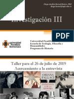 Taller Oriana Fallaci - Investigación III