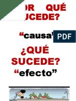 CAUSA - EFECTO