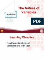 Nature of Variables