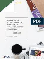 Instructivo de Actualización DIEE- Banco Mundial