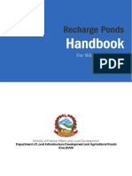 Recharge Ponds Handbook for Wash Programme English