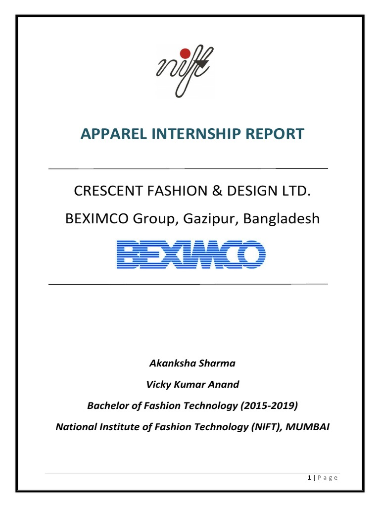 Departmental Study Textile And Clothing Business