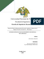 Informe General de Mantenimiento - Suficiencia