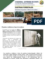 Semana x. Paneles o Tableros de Madera