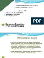 Tax Planning Dan Pengendalian Atas Unsur Unsur Withholding Tax Selain PPh-21 Kelompok 3