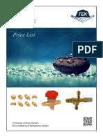 Price List 2017