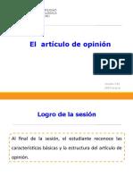 13A_N04I_El Artículo de Opinión (Diapositivas) 2019-Marzo