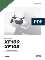 Canon Xf 100 Manual
