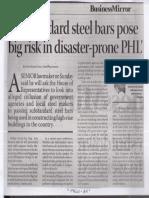 Business Mirror, July 29, 2019, Substandard steel bars pose big risk in disaster-prone PHL.pdf