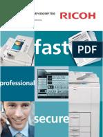 Ricoh Aficio Mp 7500 Copier Brochure