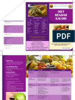 Leaflet Diet Rendah Kalori