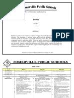Curriculum Map Health Grade - 7
