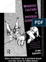 Lynn Abrams - Workers' Culture in Imperial Germany
