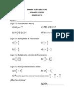 EXAMEN de 6to(2do Periodo)