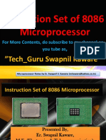 Instruction Set of 8086 Microprocessor by Er. Swapnil V. Kaware