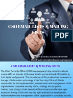 CSO Email Lists & Mailing Lists | Chief Security Officer Email Lists | CSO Email Database in USA