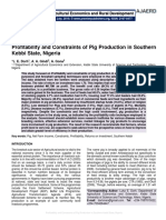 Profitability and Constraints of Pig Production in Southern Kebbi State, Nigeria
