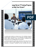 How Can Exchange Server IT Training Program Can Help Your Career?