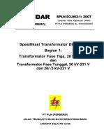 Edoc.site Spln d3002!1!2007 Spesifikasi Transformator Distri