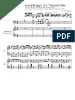 Despacito and Strength of a Thousand Men Arrangement for 2 Pianos