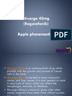 Stivarga 40mg -Stivarga 40mg is needed to treat colorectal cancer and liver cancer. It is also needed to treat a rare type of tumor which can affect the oesophagus, stomach, or intestines @Apple Pharmaceuticals