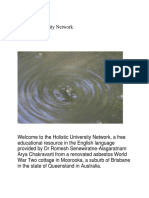 WELCOME to the Holistic University Network