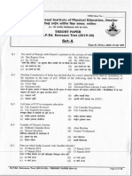 BPED Entrance Test Theory Paper Set-A 2019