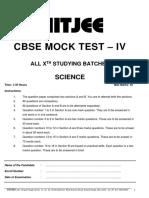 Cbse Mock Test 4_science_jan 14 2019