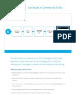 Moodys Analytics Certificate in Commercial Credit Brochure