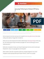 Cara Mengetahui siapa yang tathering ke Wifi