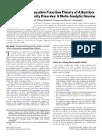 Willcutt Et Al (2005) Executive Functions - MataAnalysis