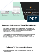 Endnote Vs Footnote