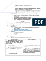 Detailed Lesson Plan in Entrep - Final Demo