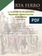 Bibliografía Completa Nº 8 Los Diádocos Guerra Fratricida Por El Imperio de Alejandro