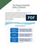 Factor de Proporcionalidad Credito Tributario