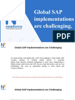 Global SAP Implementations Are Challenging
