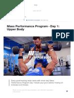 Mass Performance Program - Day 1_ Upper Body