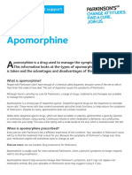 recent use of apomorphine for parkinsons