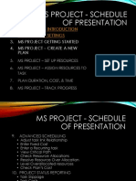 Computer – Aided Project Management (Cpm)-Ms Project Schedule