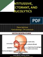 Anti Tussive, Mucolytics, And Expectorant