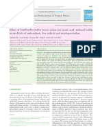 Effect of Azadirachta indica leaves extract on acetic acid-induced colitis in rats:Role of antioxidants, free radicals and myeloperoxidase