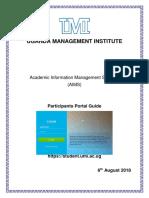 Participants Portal User Guide 6 Aug 2018