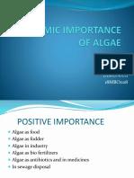Economic Importance of Algae 1