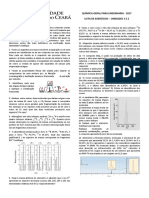 Lista de química  -  Estequiometria