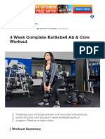 4 Week Complete Kettlebell Ab & Core Workout