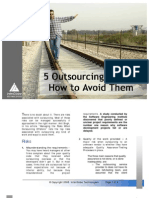 5 Outsourcing Risk and How to Avoid Them