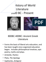 The History of World Literature.ppt